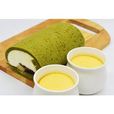 抹茶ロールと極上のチーズプリン 侘 -WABI-
